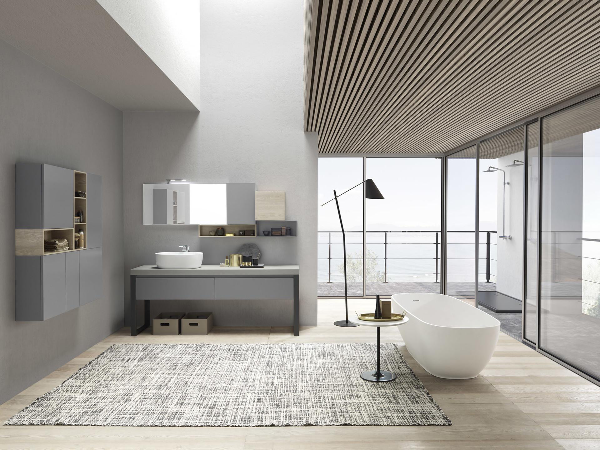 Miroir lumineux pour une salle de bain design - Intermaison